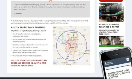 Website and PPC for A + Septic Pumping & Repair