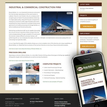 Responsive Website for Brown-McKee Inc.