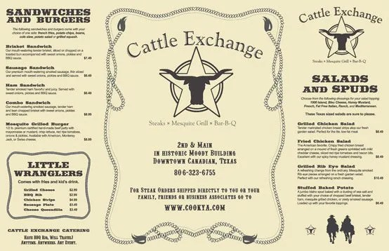 Cattle Exchange Menu