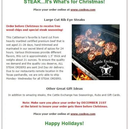 Cattle Exchange Newsletter