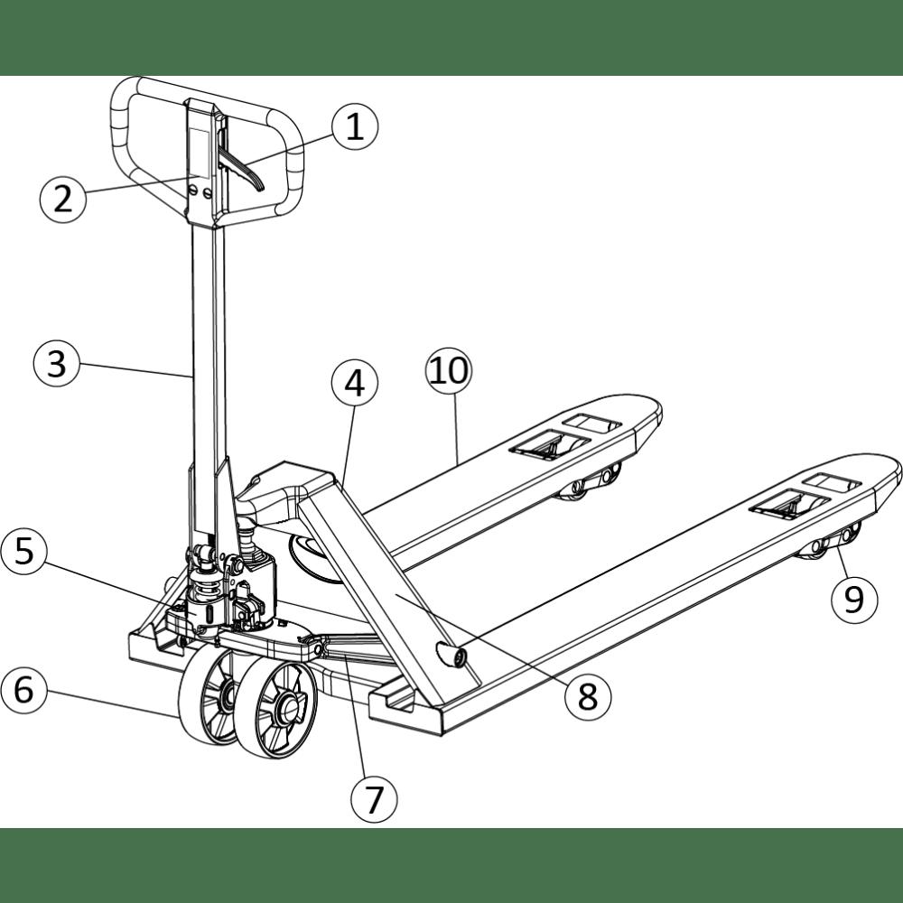 Paleteira Hidráulica Manual em Aço Carbono Lapek LPK-2500
