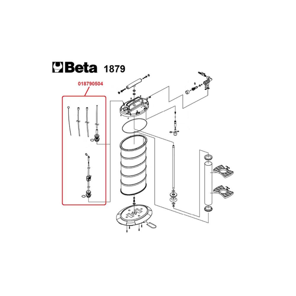 Extrator de Fluídos Pneumático Manual 9,5 Litros Beta 1879
