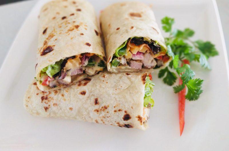 Pork & Veggie Wraps
