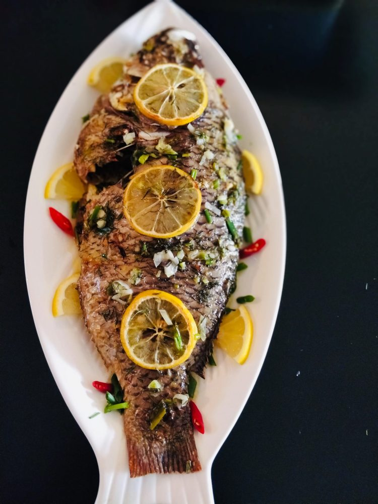 Oven-Baked whole Tilapia