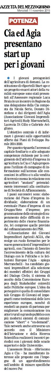 AGIa gazzetta 11 11 2015