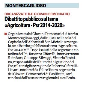 Montescaglioso gazzetta 24 11 2015