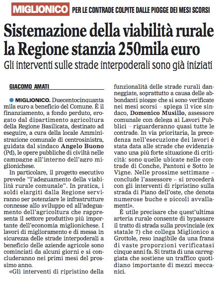 Miglionico gazzetta 03 12 2015