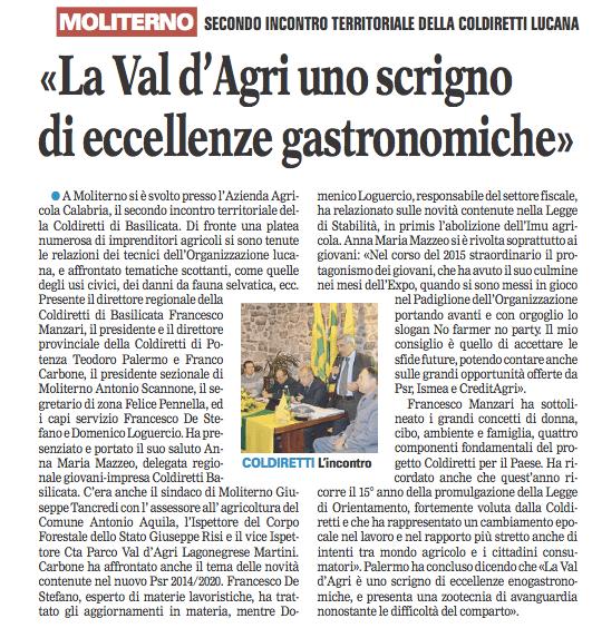 coldiretti gazzetta 16 03 2016