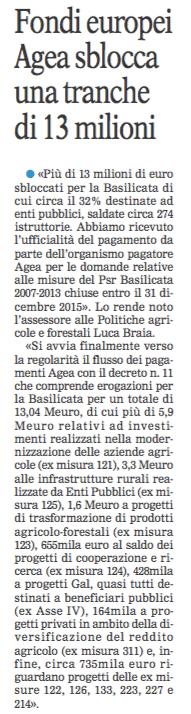 AGEA gazzetta 19 05 2016