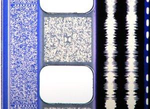 Le tracce audio su una pellicola 35mm