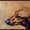 2007 - Pittura lavabile su legno rivestito in foglia rame 35x22. Water paint on copper leaf on wood 35x22.
