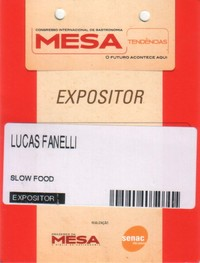 My badge at the Semana Mesa SP