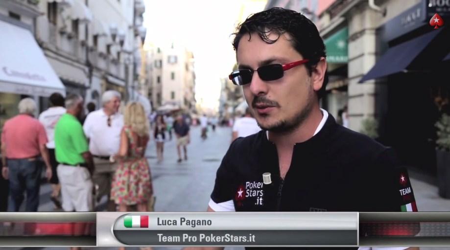 E quando Luca Pagano non vede carte per tutto il torneo cosa fa?