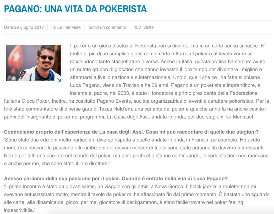 Vita da pokerista – ilpopolano.com, 2017