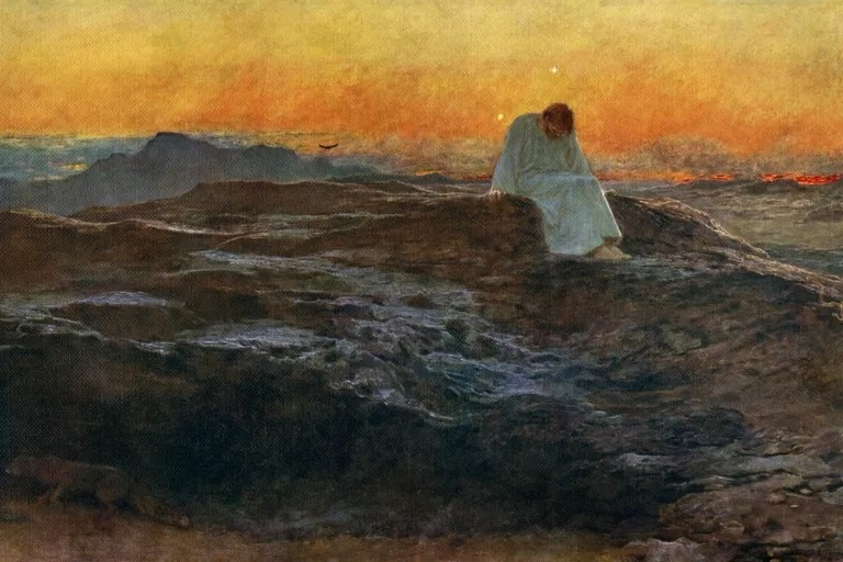 Christ in the Wilderness', 1898, by Briton Riviere