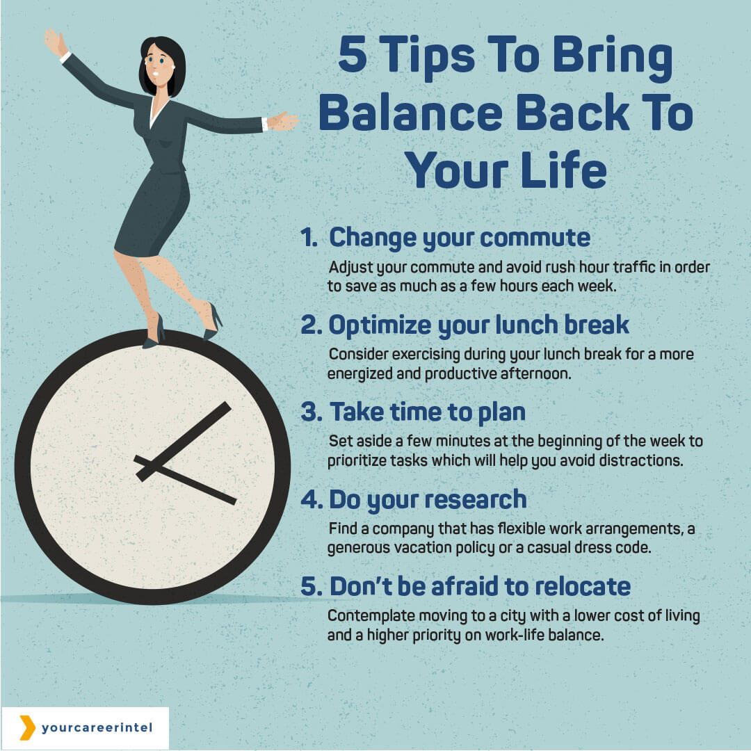 5 Tips To Bring Balance Back To Your Life
