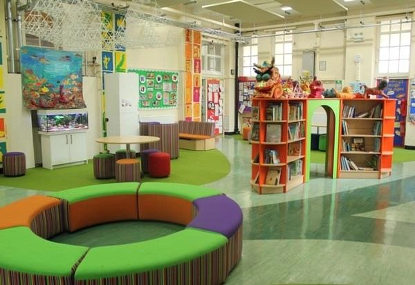 The library at Lucas Vale