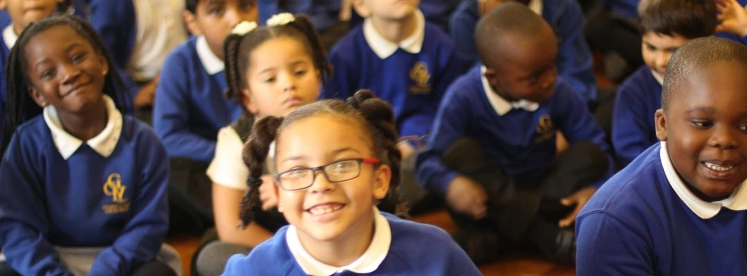 Children in a group assembly