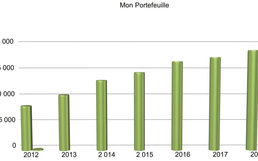 Mon portefeuille: les (magnifiques) résultats de l'année 2018