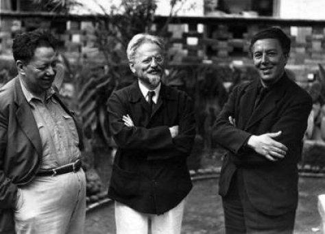 Diego Rivera, León Trotsky y André Breton
