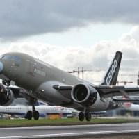 Bombardier CSeries aircraft completes landmark non-stop Transatlantic flight from London City Airport to New York John F. Kennedy Airport