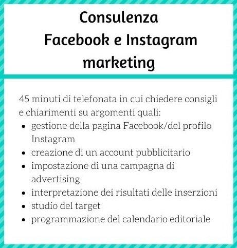 Consulenza Facebook e Instagram Marketing, Social media marketing per autori e case editrici