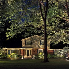 Transitional Style Living Room Navy Blue Sofa Landscape Lighting For Year-round Enjoyment | Lucia ...