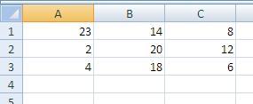 Datos para un nombre de rango dinámico
