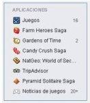 Lista de invitaciones a juegos de Facebook