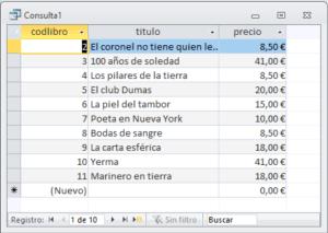 Consulta SQL de selección