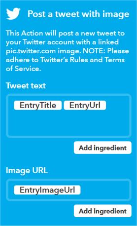 Applet en IFTTT para publicar RSS en Twitter automáticamente
