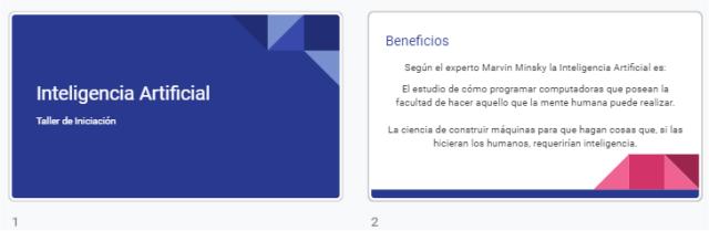 Presentación realizada en Google Slides con tema aplicado