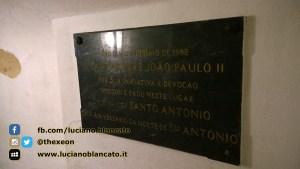 Lisbona - tomba Santo Antonio - targa visita del papa