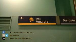 Lisbona - dettaglio metro, Amarela