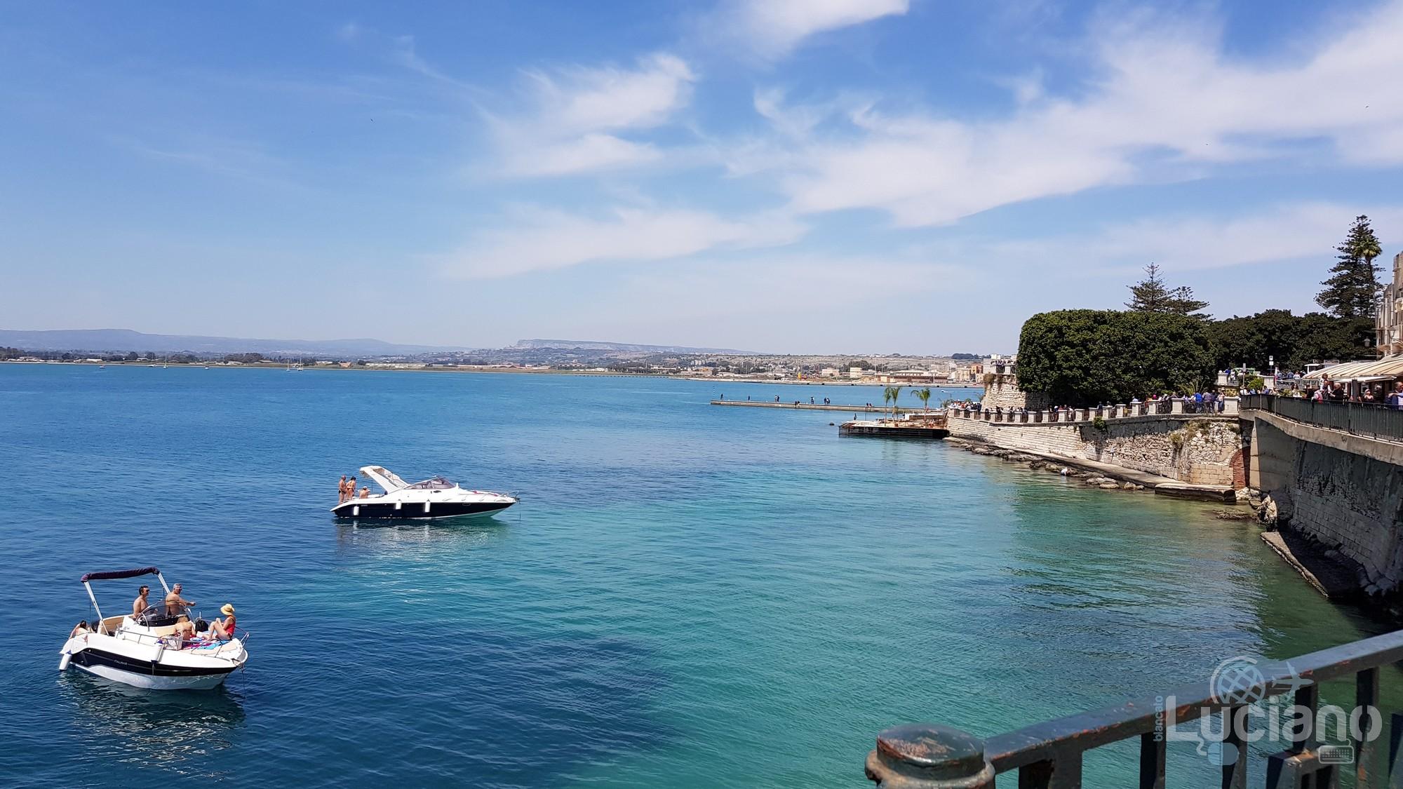 Vista Ortigia - Fonte Aretusa - Lungomare Alfeo - Siracusa