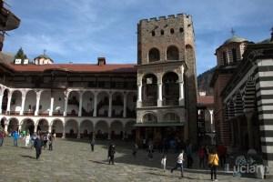 Torre con campane nel Cortile interno al Monastero di Rila, Рилски Манастир, Rilski Manastir - Sofia - Bulgaria