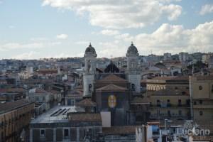 Vista di Chiesa di San Francesco d'Assisi all'Immacolata dalla Chiesa della Badia di Sant'Agata, durante i festeggiamenti per Sant'Agata 2019 - Catania (CT)