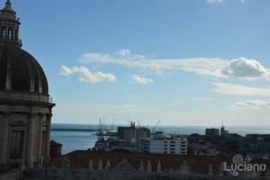 Vista sul porto dalla cupola della Chiesa della Badia di Sant'Agata, durante i festeggiamenti per Sant'Agata 2019 - Catania (CT)