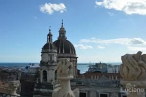 Vista del porto dalla cupola della Chiesa della Badia di Sant'Agata, durante i festeggiamenti per Sant'Agata 2019 - Catania (CT)