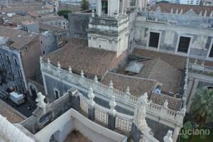 Vista del duomo dalla cupola della Chiesa della Badia di Sant'Agata, durante i festeggiamenti per Sant'Agata 2019 - Catania (CT)