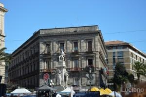 Monumento a Vincenzo Bellini. In giro per catania, durante i festeggiamenti per Sant'Agata 2019 - Catania (CT)
