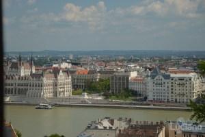 Vista del Danubio dal Bastione dei pescatori - Halászbástya - Budapest