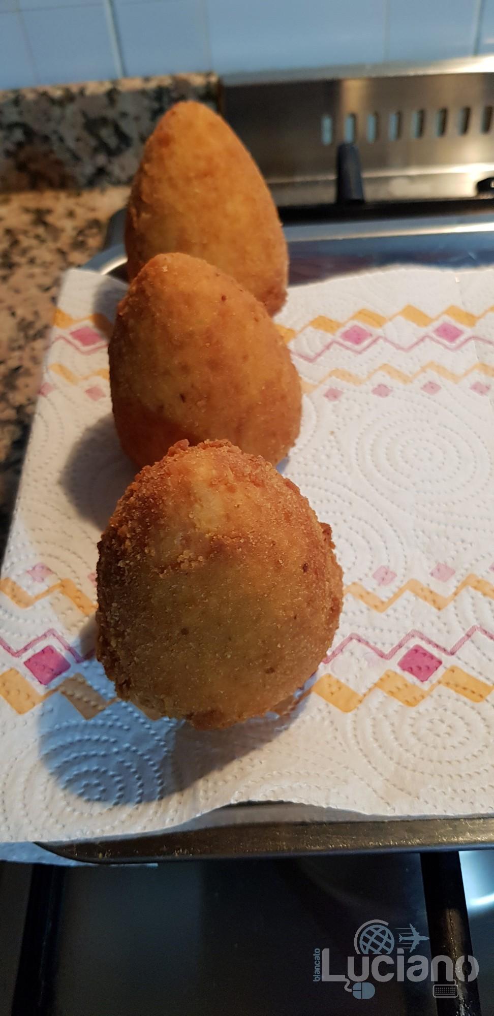 Arancini fatti in casa - Appena fritti