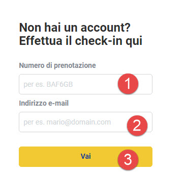 Home page di Ryanair; dove trovare il check-in on line - utente non registrato, info per fare check-in