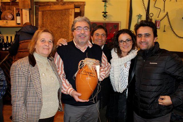 Antonio Ruggiero con la famiglia Lombardi de Le Campestre