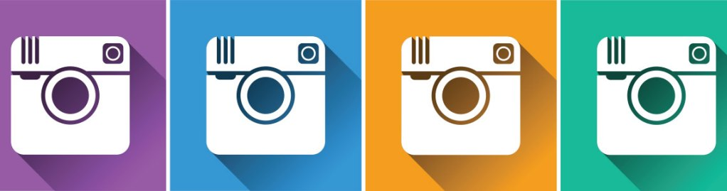 multiple color instagram icons
