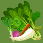 Bunching vegetables icon