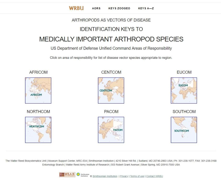 Walter Reed Biosystematics Unit Species ID website (2019)