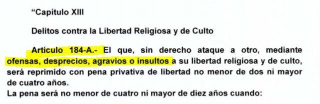 """(PERU) Proyecto de ley busca penalizar el """"desprecio"""" a la libertad religiosa"""
