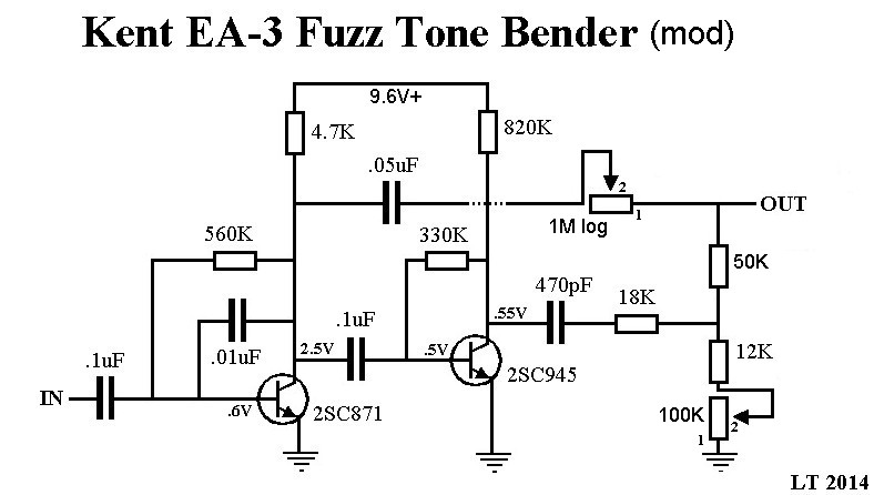 Tone Bender Fuzz Box Schematics Tone Bender Pedal